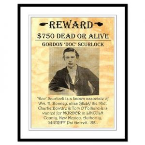 Doc Scurlock wanted poster