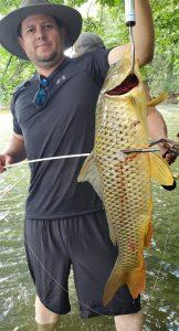 Carp caught at Scurlock Farms